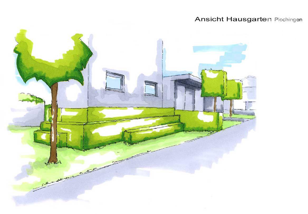 Gartenplanung Zeichnung 03