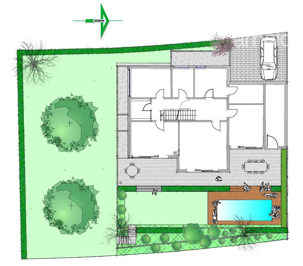 Gartenplanung Zeichnung 05