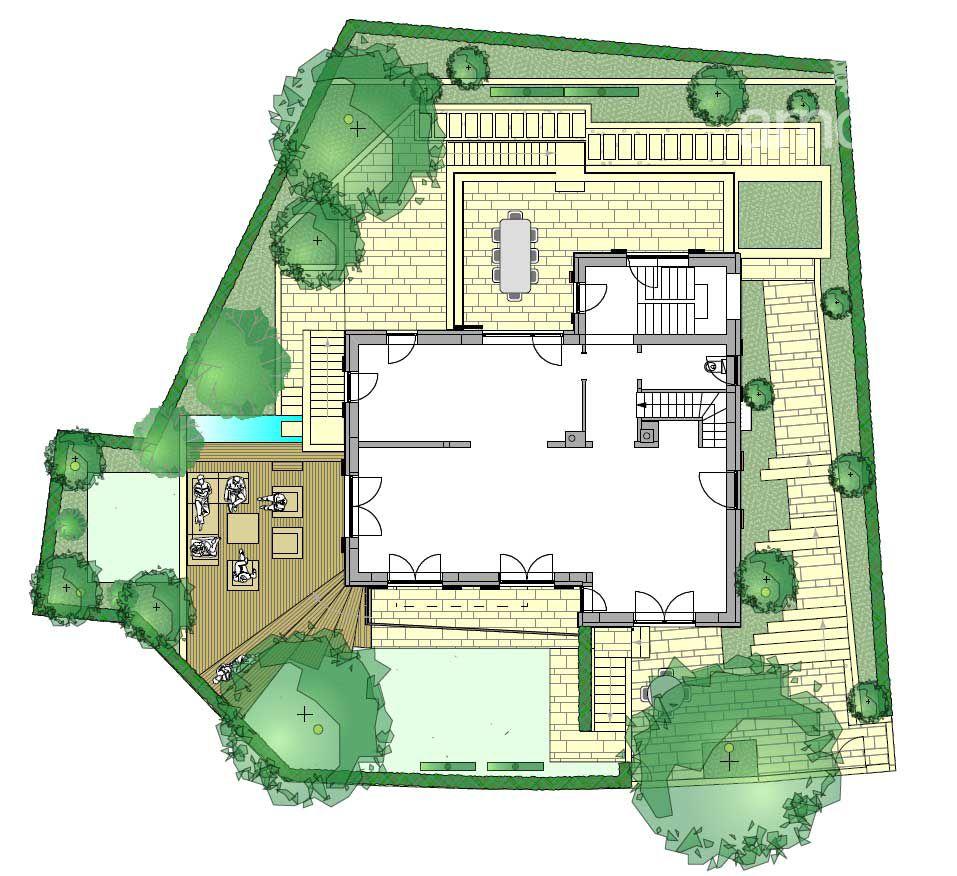 Gartenplanung Zeichnung 12