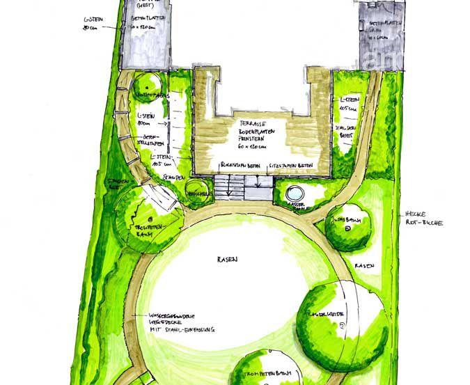 Gartenplanung Zeichnung 04