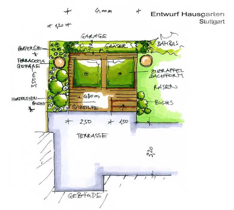 Gartenplanung Zeichnung 07