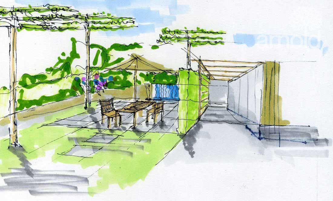 Gartenplanung Zeichnung 10