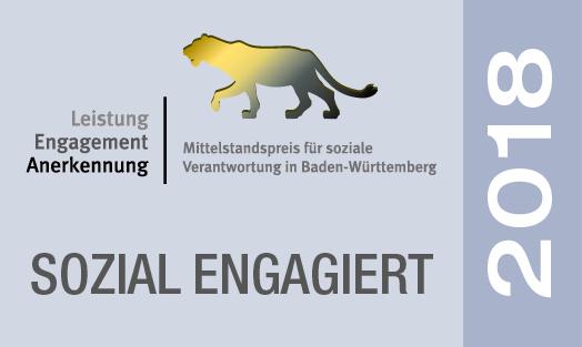 Urkunde Mittelstandspreises für soziale Verantwortung in Baden-Württemberg